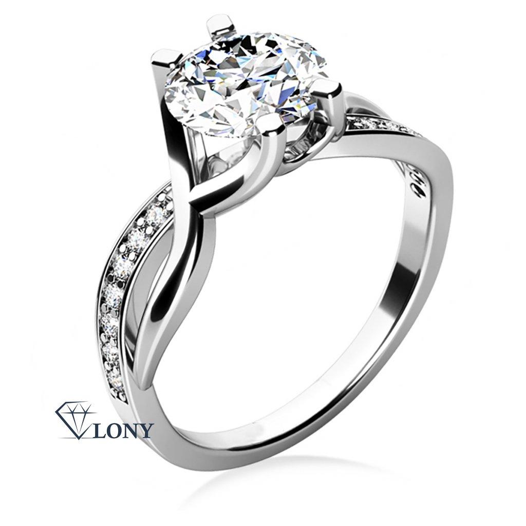 Maui – zásnubní prsten z bílého zlata