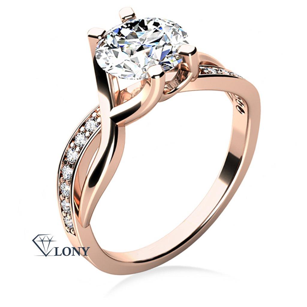 Maui – zásnubní prsten z růžového zlata