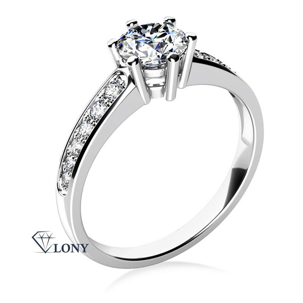 Luxusní zásnubní prsten Naria z bílého zlata