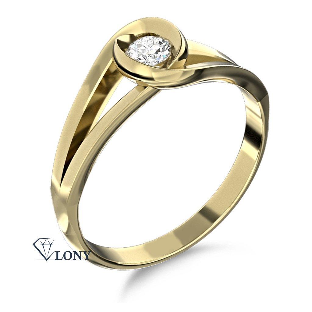Zlatnictví LONY, prsten Pauline, žluté zlato se zirkonem