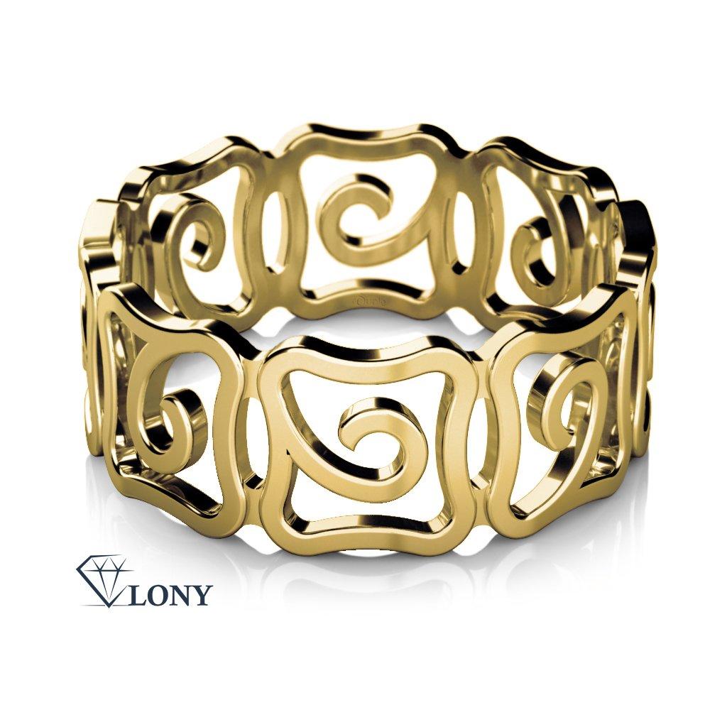 Netradiční prsten Mystic ze žlutého zlata