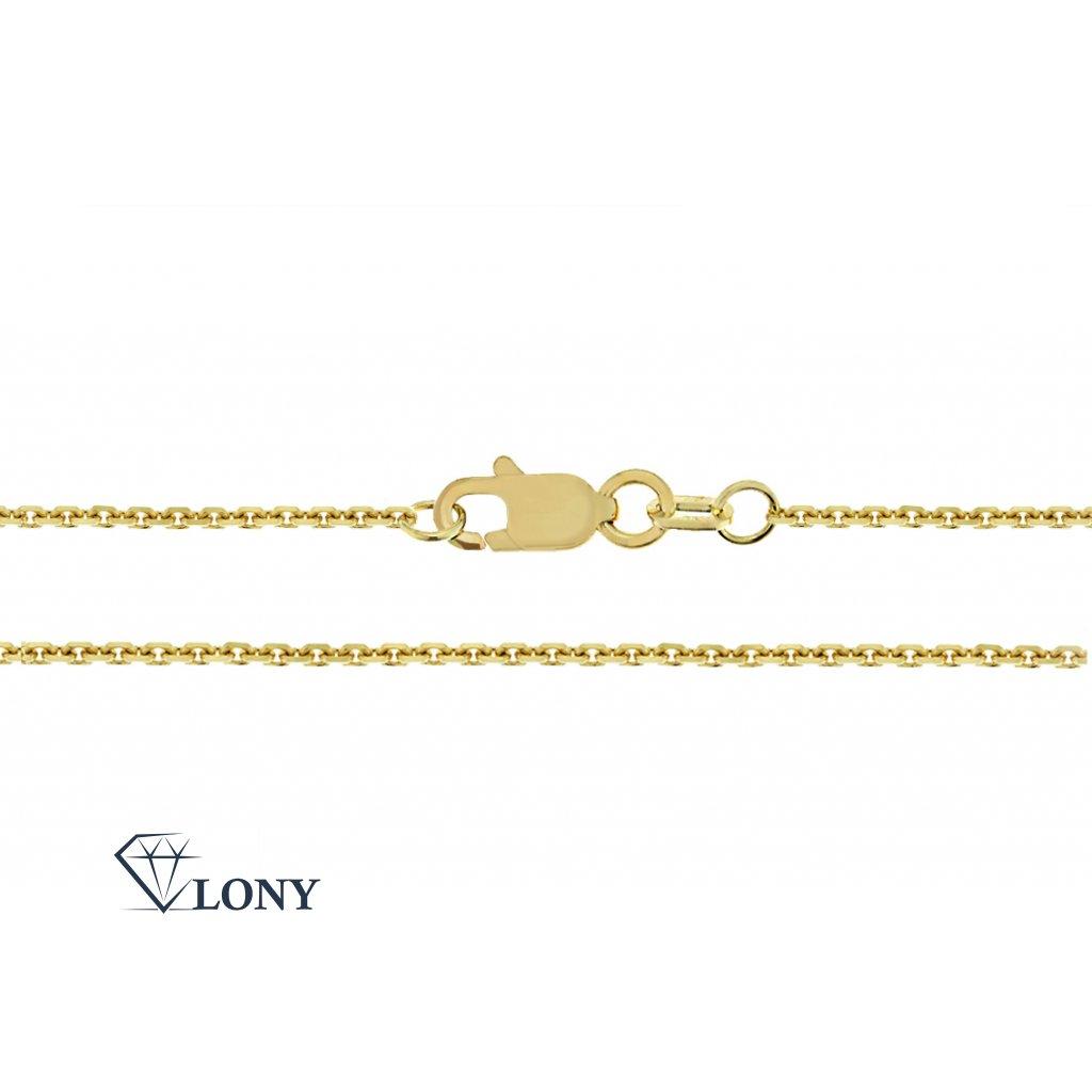 Anker – přívěskový řetízek ze žlutého zlata