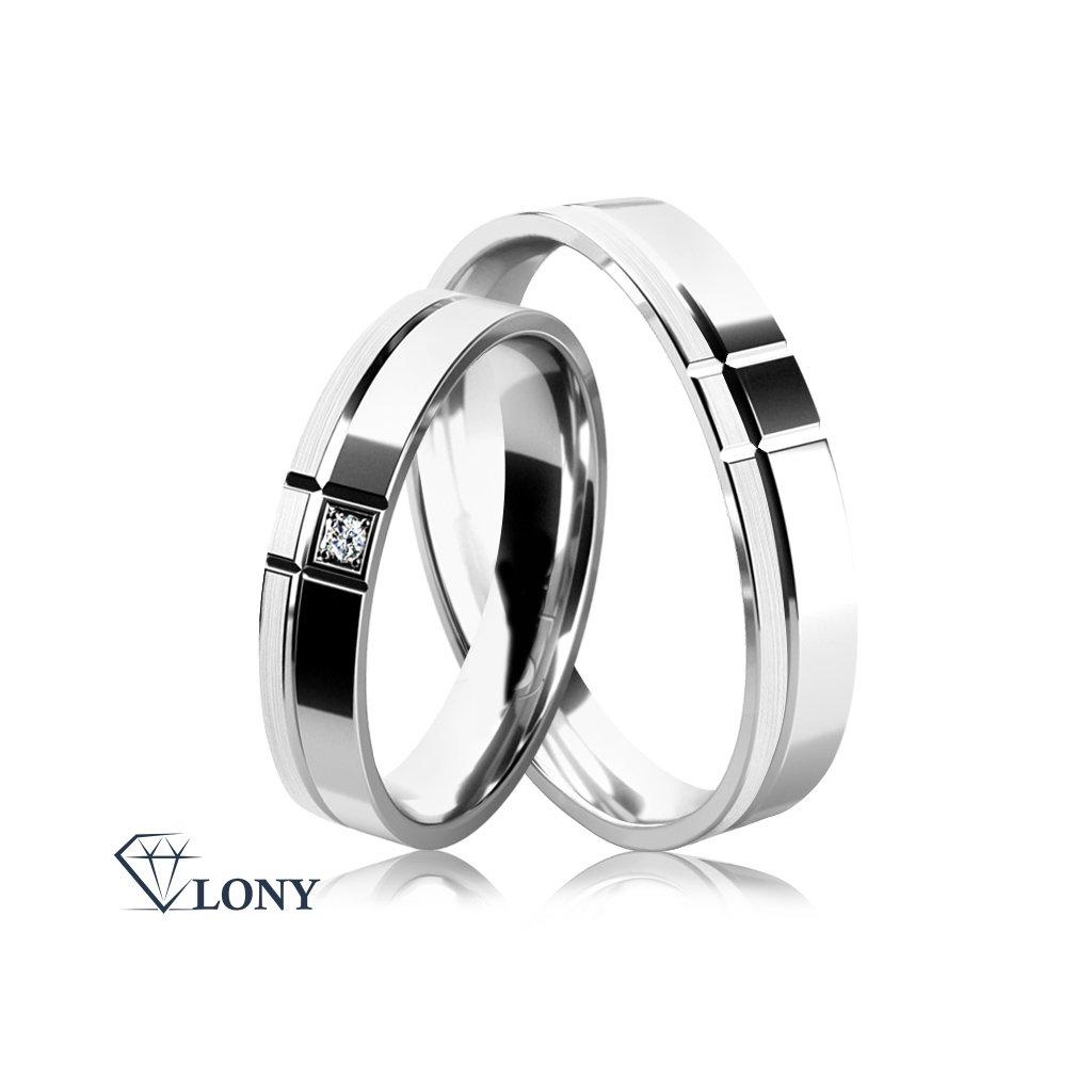 Snubní prsteny Allegra, žluté zlato s diamantem