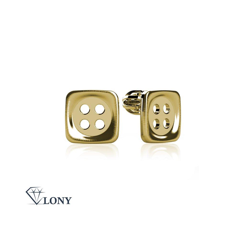Knoflíky náušnice pecky ze žlutého zlata
