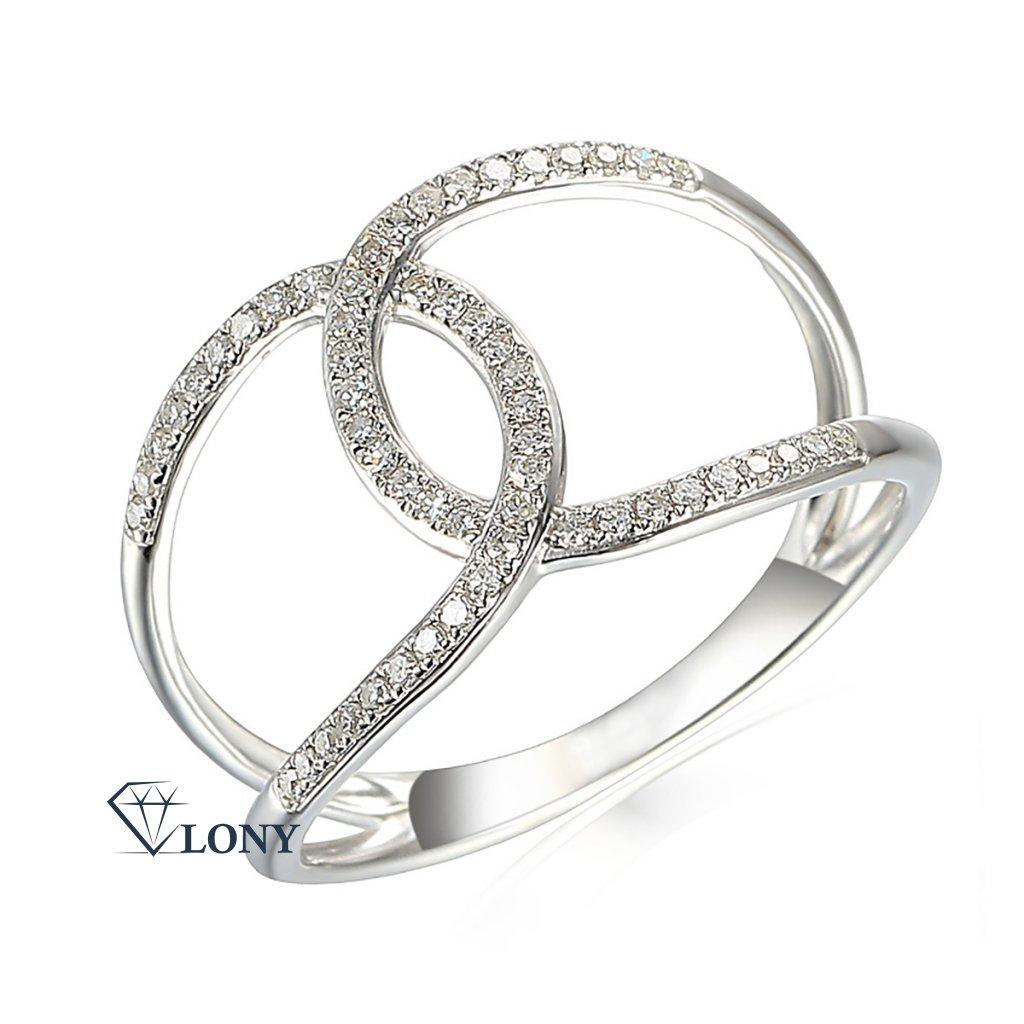 Diamantový prsten Emory, bílé zlato s brilianty