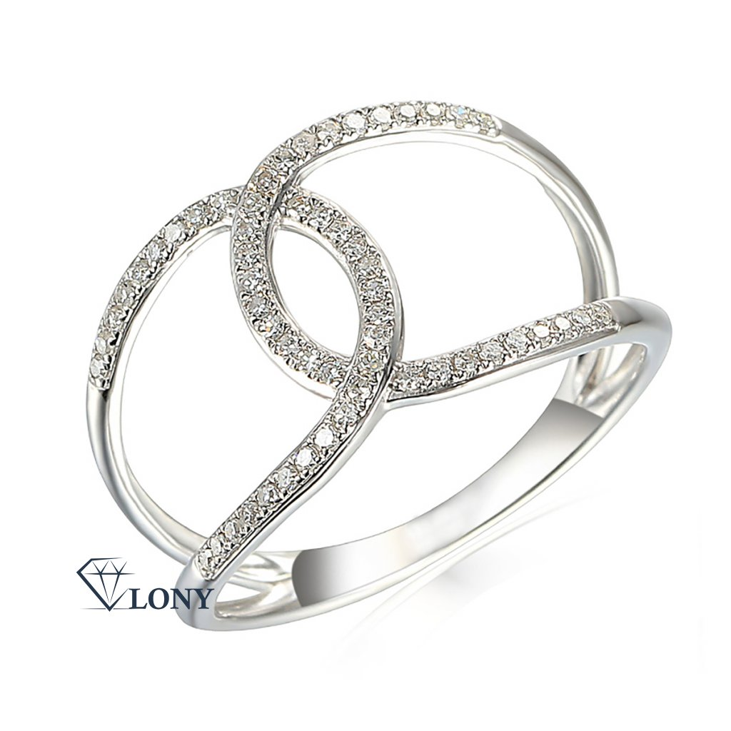 Zlatnictví LONY, prsten, bílé zlato s brilianty