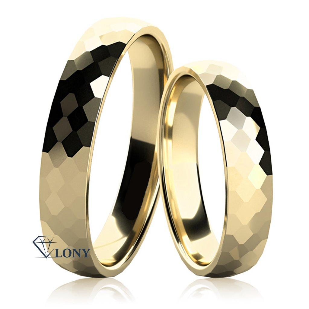 Snubní prsteny Lexie ze žlutého zlata