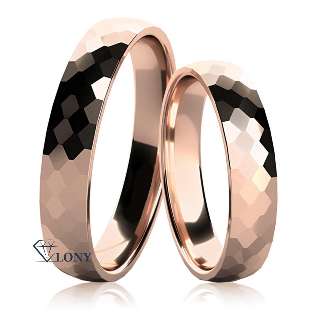 Snubní prsteny Lexie z růžového zlata