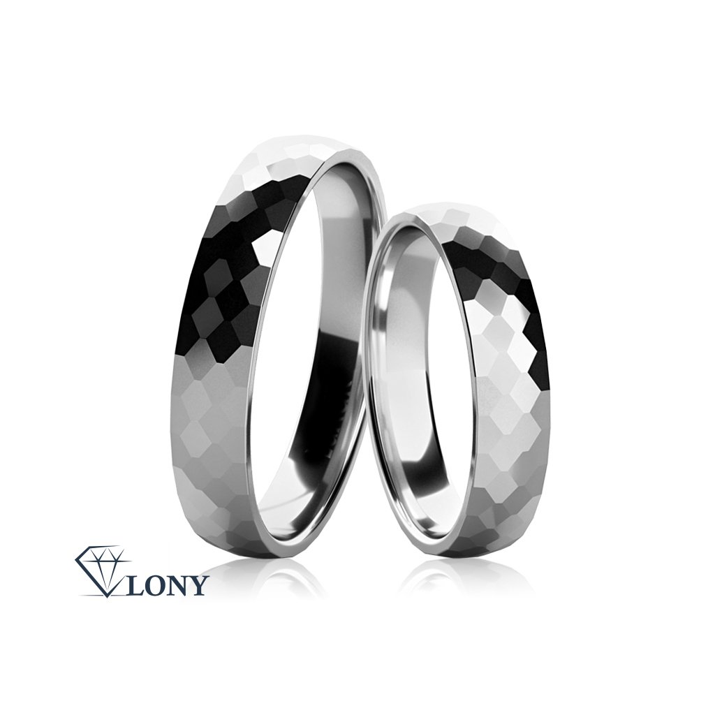 Snubní prsteny Lexie z bílého zlata