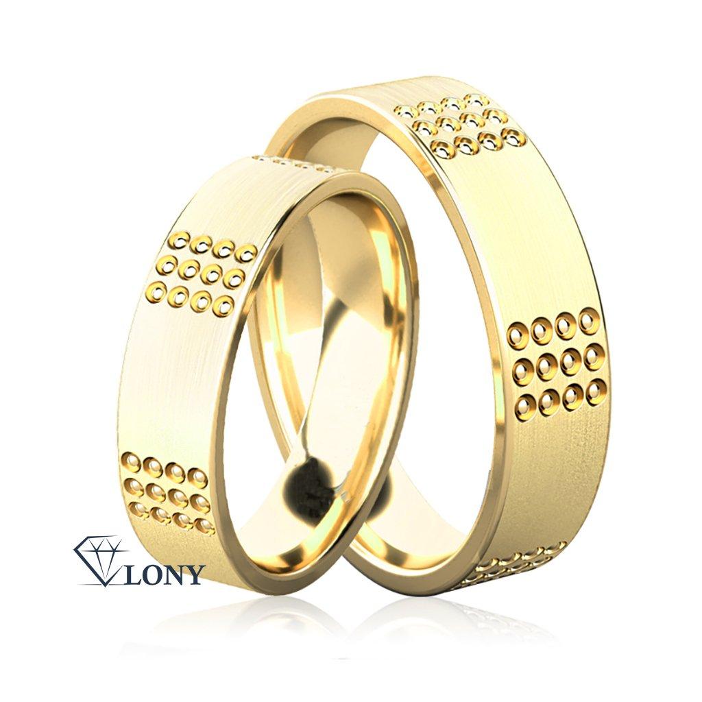 Snubní prsteny Emerson ze žlutého zlata