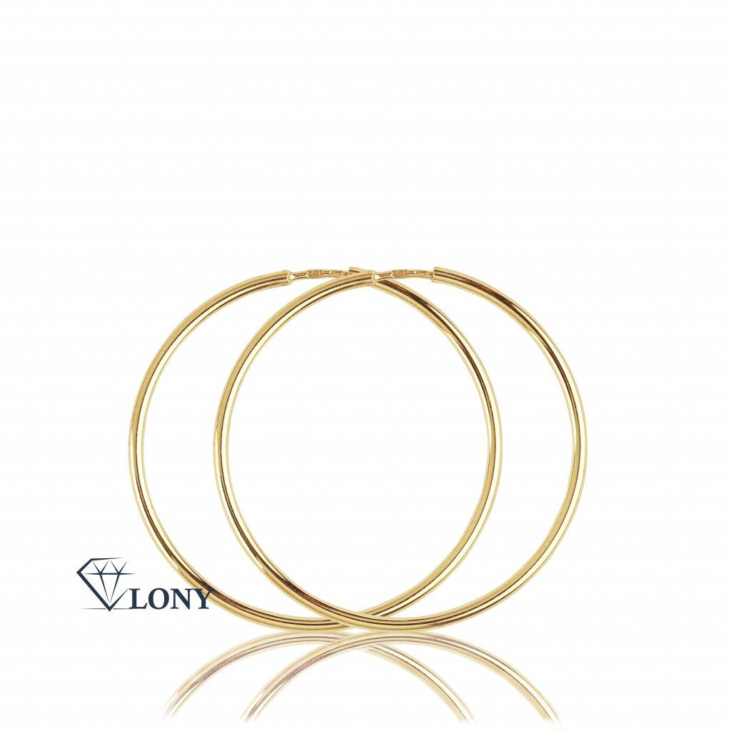 classic basic náušnice kruhové ze žlutého zlata
