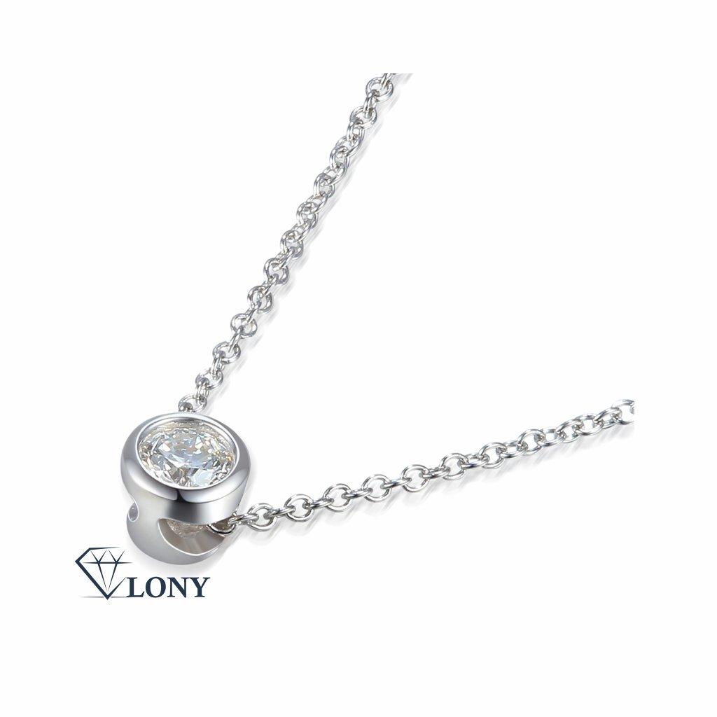Kirsty náhrdelník z bílého zlata doplněný o briliant