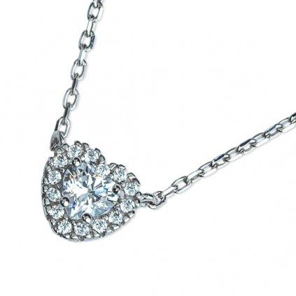 Megan náhrdelník z bílého zlata se zirkony