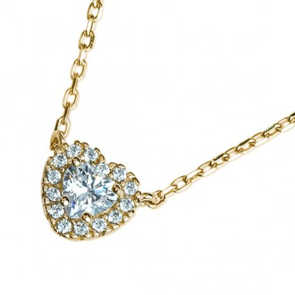 Megan náhrdelník ze žlutého zlata se zirkony