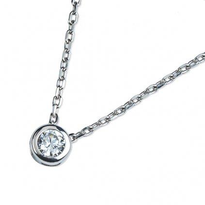 Selena náhrdelník z bílého zlata se zirkonem