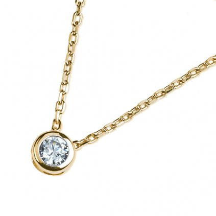 Selena náhrdelník ze žlutého zlata se zirkonem