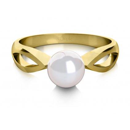 Taisa prsten ze žlutého zlata se sladkovodní perlou