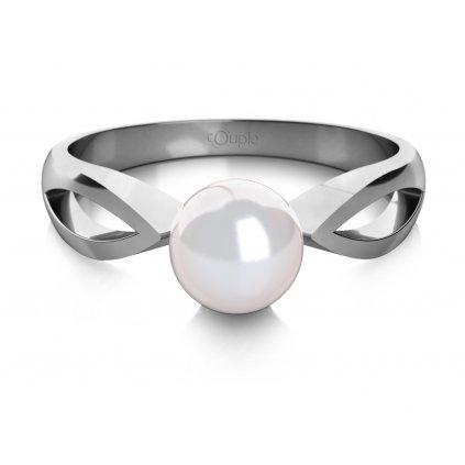 Taisa prsten z bílého zlata se sladkovodní perlou