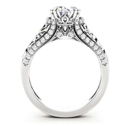 Silvana luxusní zásnubní prsten z bílého zlata s brilianty