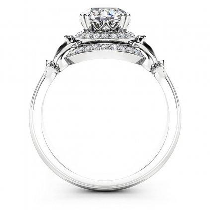 Haeven luxusní zásnubní prstýnek z bílého zlata s brilianty