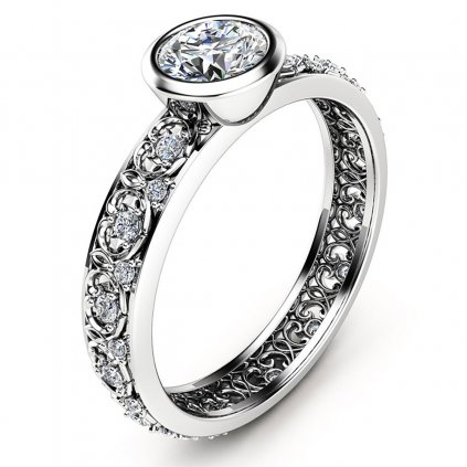 Prsten Sparkly Amarrisa, bílé zlato a brilianty