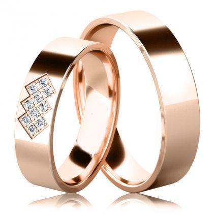 Snubní prsteny Asher, srříbro a zirkony