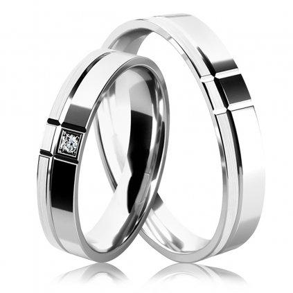 Snubní prsteny Allegra, stříbro a zirkony