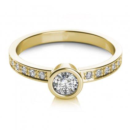 Gabi, prsten ze žlutého zlata se zirkonem