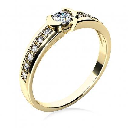 Prsten Marylin ze žlutého zlata a zirkonů