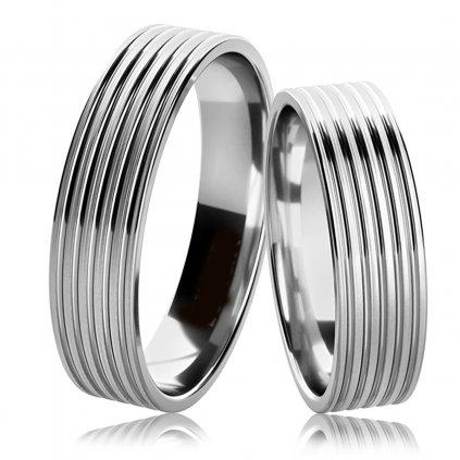 Stříbrný snubní prsteny Tobin