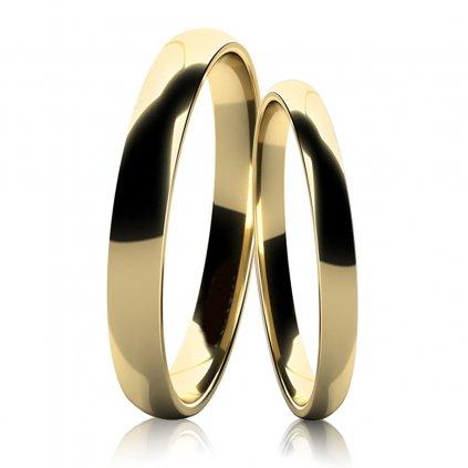 Snubní prsteny IDOL I ze žlutého zlata