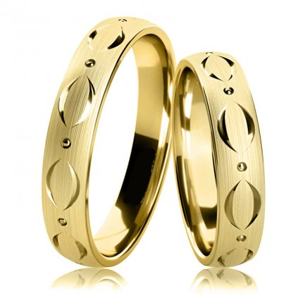 Snubní prsteny Adamaris z bílého zlata