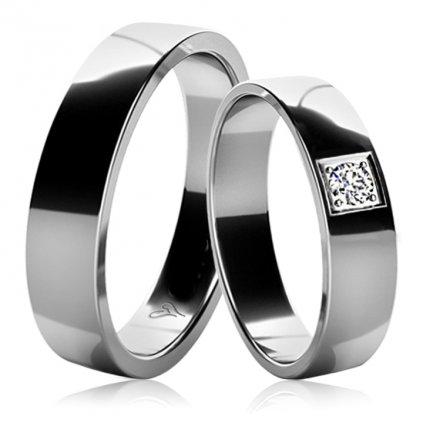 Snubní prsteny Marion z bílého zlata