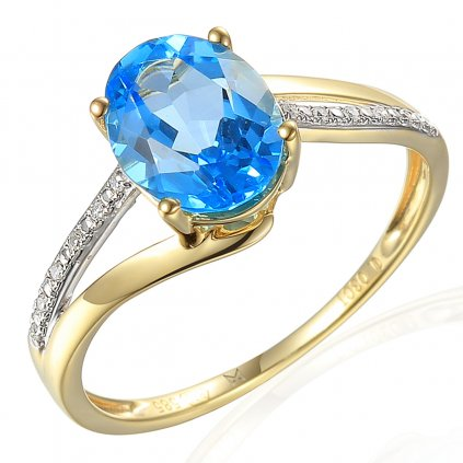 Diamantový prsten Miracle bleu
