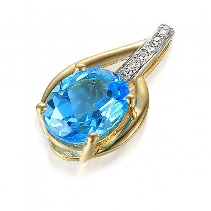 Diamantový přívěsek  Miracle bleu
