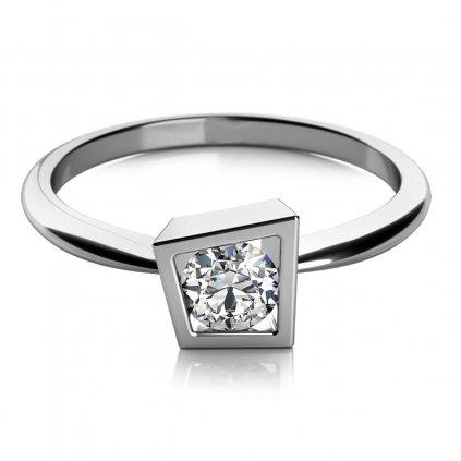 zásnubní prsten Apolena v bílém zlatě se zirkonem