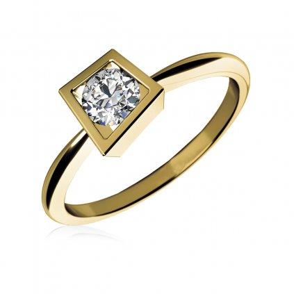 zásnubní prsten Apolena, žluté zlato a zirkon