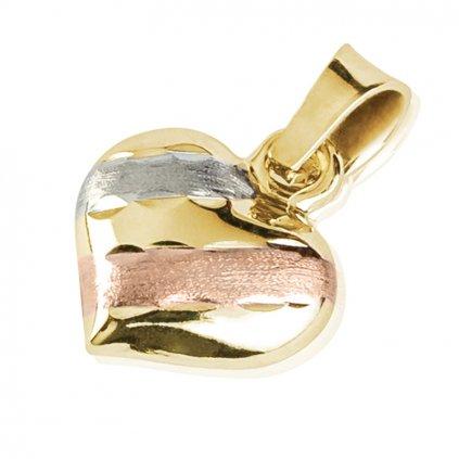 Přívěsek Sisa, kombinované zlato