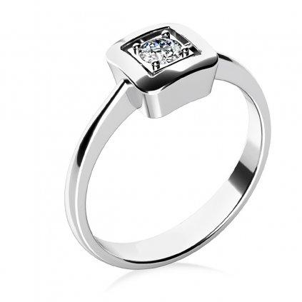 Delia – prsten v bílém zlatě se zirkonem