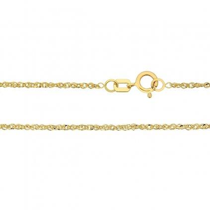 Přívěskový řetízek Chani typu lambada, žluté zlato