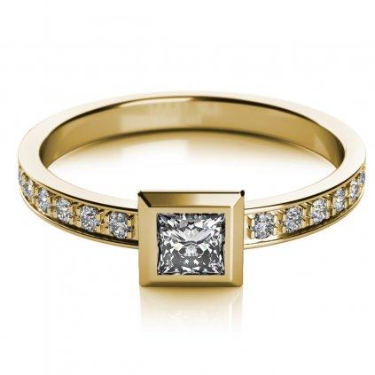 Zajímavý prsten Debbie ze žlutého zlata