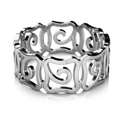Netradiční prsten Mystic z bílého zlata