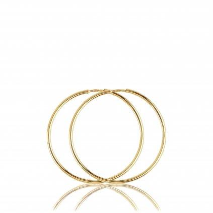 Classic kruhové náušnice ze žlutého zlata