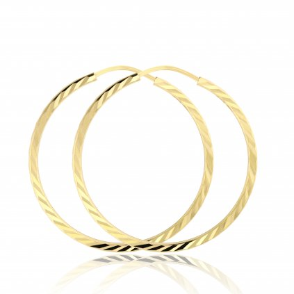 Velké kruhové náušnice ze žlutého zlata