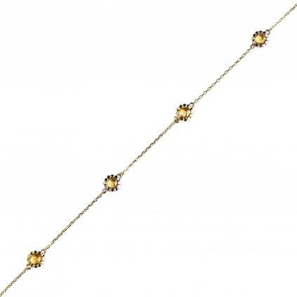 Leslie náramek ze žlutého zlata s citrínem