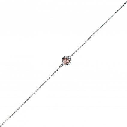 Leslie řetěz z bílého zlata a turmalínem