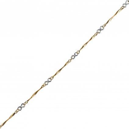 Jollie náhrdelník v kombinaci žlutého a bílého zlata