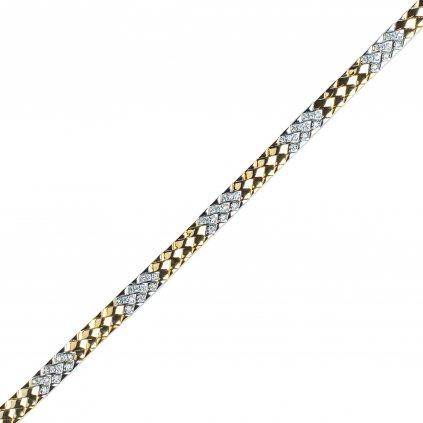 Cynthia zlatý řetěz ze žlutého zlata doplněný o zářivé zirkony
