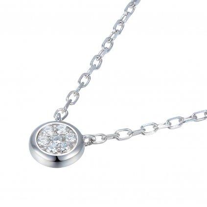 Maila náhrdelník z bílého zlata s briliantem