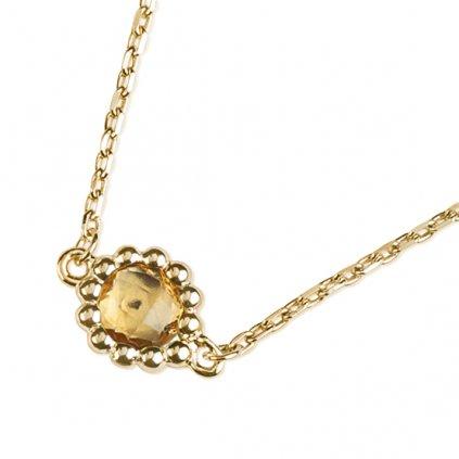 Leslie náhrdelník ze žlutého zlata s citrínem